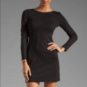 THEORY WOMEN'S power dress zip sleeve black Size 2